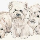 West Highland White Terrier Puppies by BarbBarcikKeith