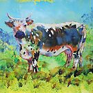 Randall Lineback Cow Painting by MikeJory