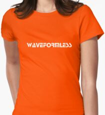 Waveformless Logo, Sequential Font Womens Fitted T-Shirt