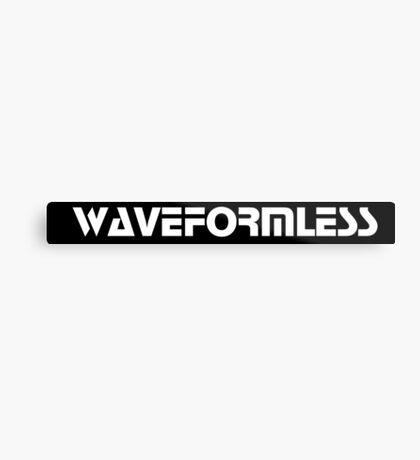 Waveformless Logo, Sequential Font Metal Print