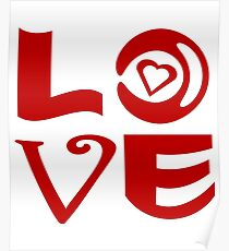 Love Letter Abstract Poster