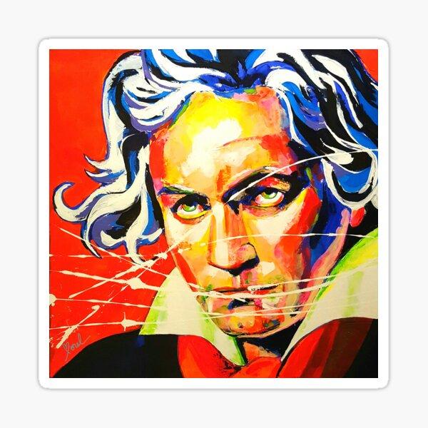 Ludwig van Beethoven Artpainting Sticker
