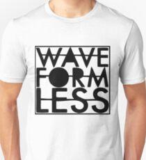 Waveformless Classic Logo, Black. T-Shirt