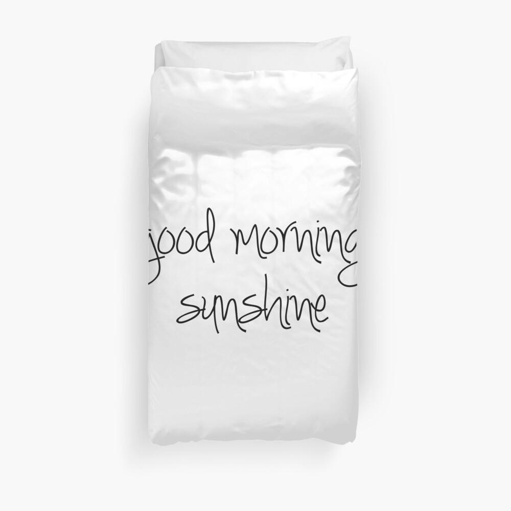 Guten Morgen Sonnenschein Bettbezug
