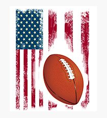 Football sport flagge usa amerika stolz team nba touchdown Photographic Print
