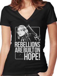 Rebellions Are Built On Hope Women's Fitted V-Neck T-Shirt