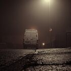 white van in the mist by david street