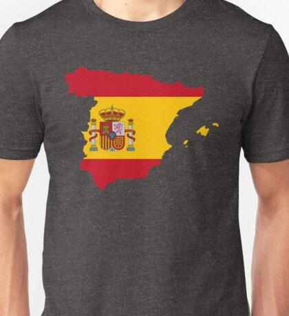 Spain Flag Map Unisex T-Shirt