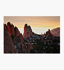 Garden of the Gods Sunrise #10 Photographic Print