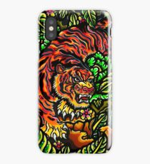 japanese tiger in the wilderness iPhone Case/Skin