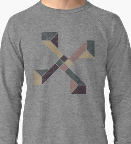 Abstract Geometry with Earth Tones Lightweight Sweatshirt