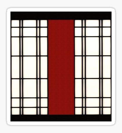 Shoji - rot Sticker