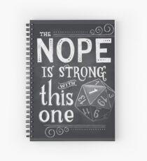 Cuaderno de espiral El NOPE es fuerte con este