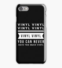 Too many records? iPhone Case/Skin