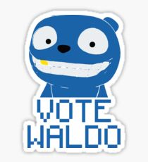 Vote Waldo – Black Mirror Sticker