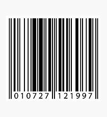 Barcode Fotodruck