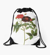 Dark red rose Drawstring Bag