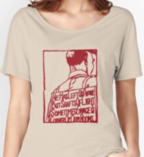 HE HAS LEFT US ALONE BUT SHAFTS OF LIGHT SOMETIMES GRACE THE CORNERS OF OUR ROOMS ASMZ Women's Relaxed Fit T-Shirt