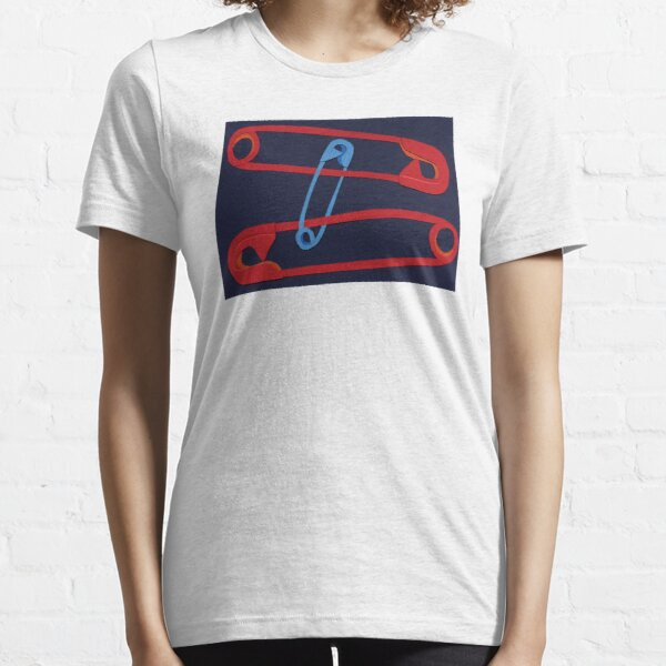 Safety Pin #19 - red,blue, Navy Essential T-Shirt