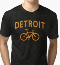 I Bike Detroit Tri-blend T-Shirt
