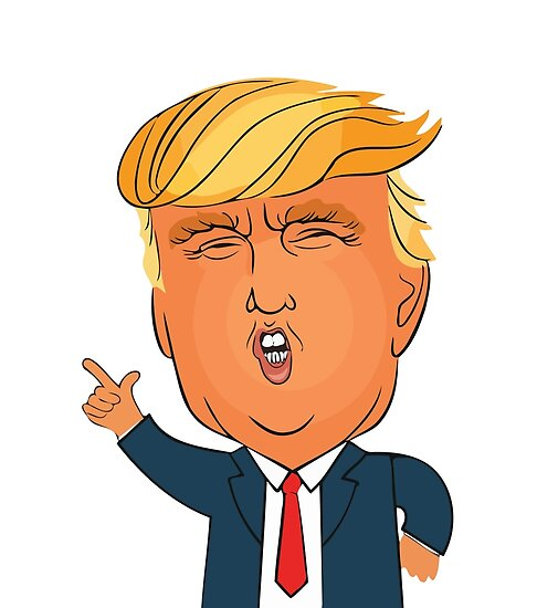 Image of: President Donald Trump Cartoon Toon Drawing Funny Crazy Election By Adrian Chillington Redbubble Donald Trump Cartoon Toon Drawing Funny Crazy Election