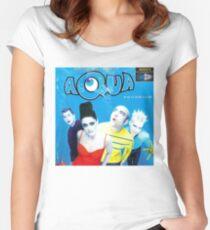 """Aqua """"Aquarium"""" Album Cover Women's Fitted Scoop T-Shirt"""
