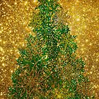 Golden Shinny Christmas Tree by Bruno Beach
