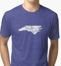 Marble North Carolina Tri-blend T-Shirt