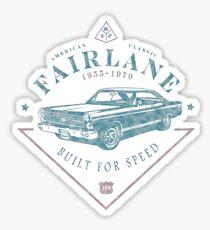 Ford Fairlane 1967 - Built for Speed Glänzender Sticker