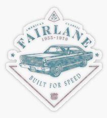 Ford Fairlane 1967 - Built for Speed Transparenter Sticker