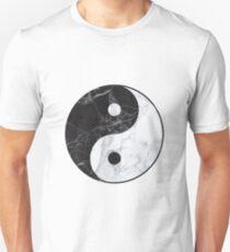 marble yin yang Unisex T-Shirt