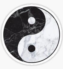 marble yin yang Sticker