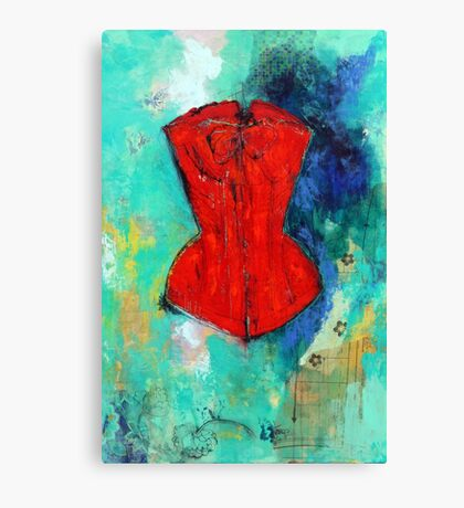 Fire Red Corset Canvas Print