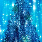 Blue Christmas tree background by Bruno Beach