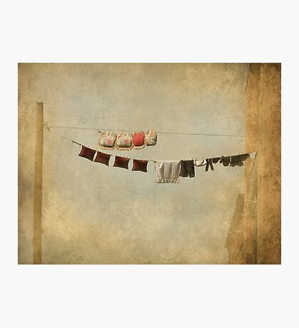 Clothes Drying on the Line Photographic Print