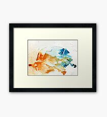 Orange and blue abstract  Framed Print