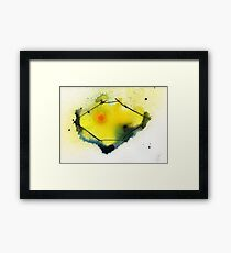 Lemon abstract Framed Print