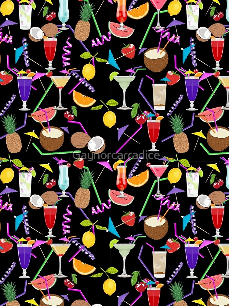 Cocktail drinks pattern by Gaynorcarradice