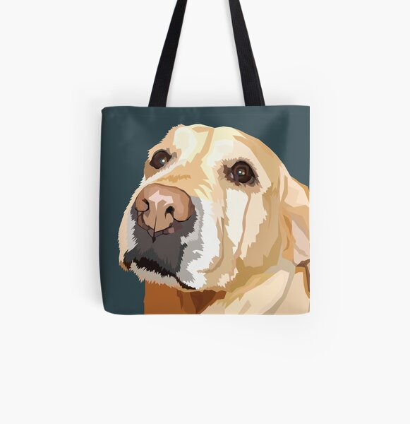Yellow Lab All Over Print Tote Bag