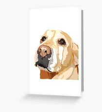 Yellow Lab Greeting Card