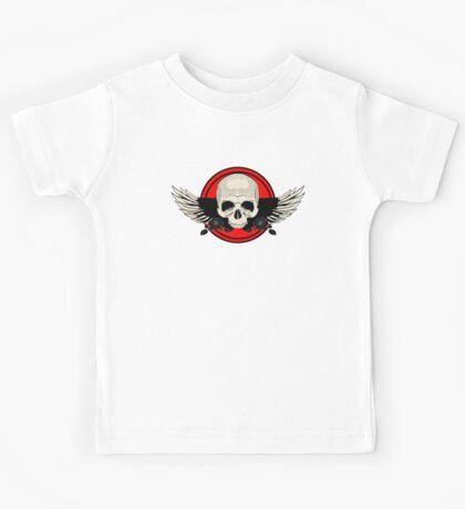 Wing Skull - RED Kids Clothes