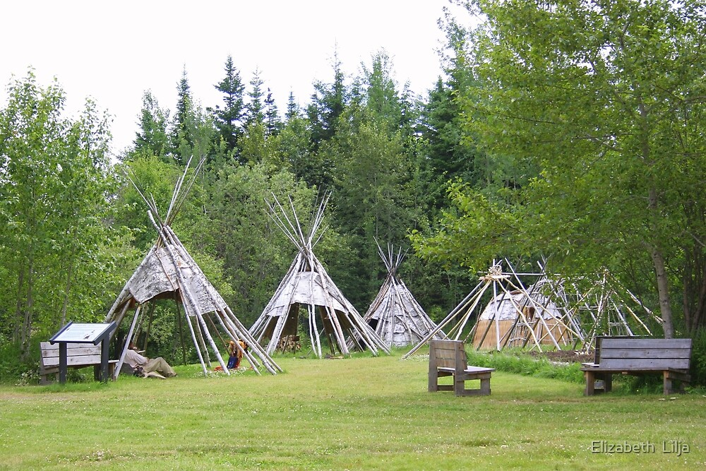 Camp At Grand Portage by Elizabeth  Lilja