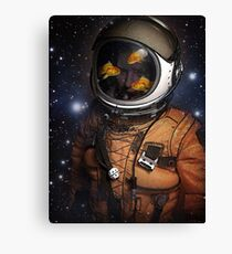 Astronauts and Goldfish Canvas Print