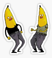 bananas in regular clothing Sticker