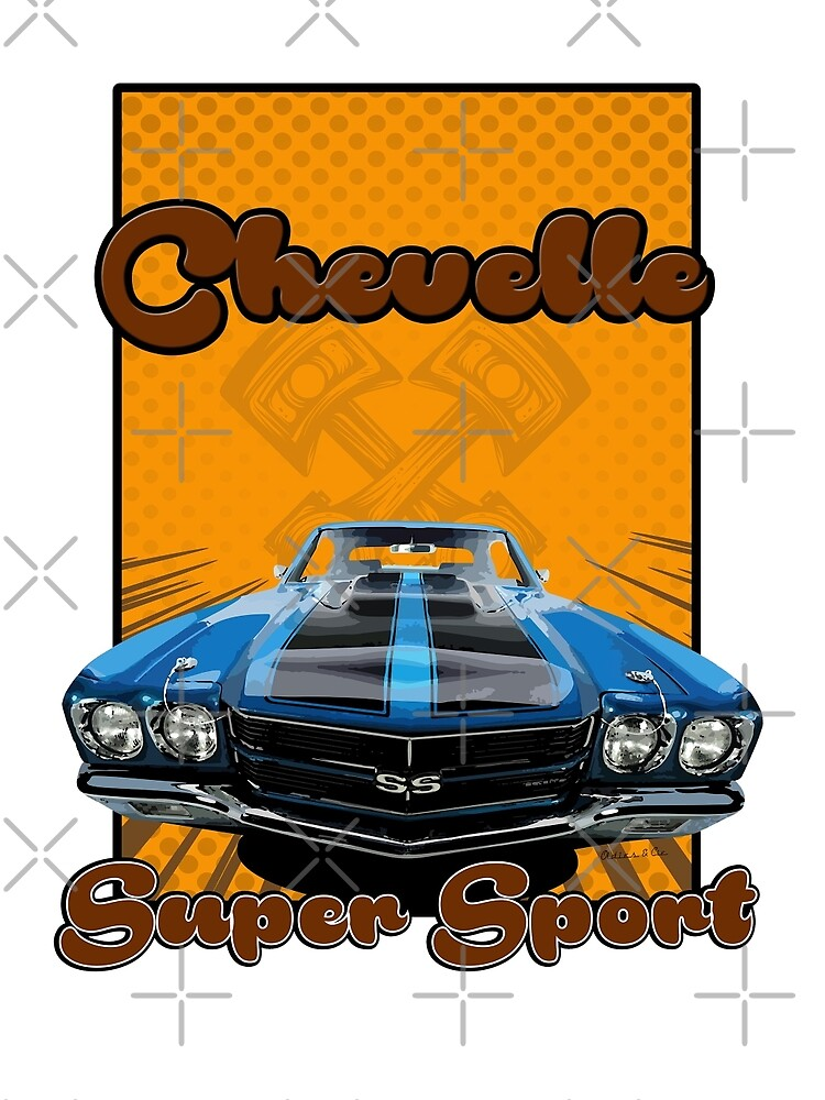 Super Sport chevelle muscle car by oldiescie