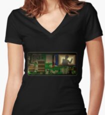 Music Box (NEED TO SEE LARGE!) Women's Fitted V-Neck T-Shirt