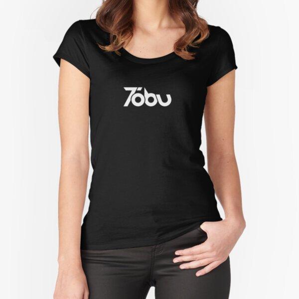 Tobu - White logo Fitted Scoop T-Shirt