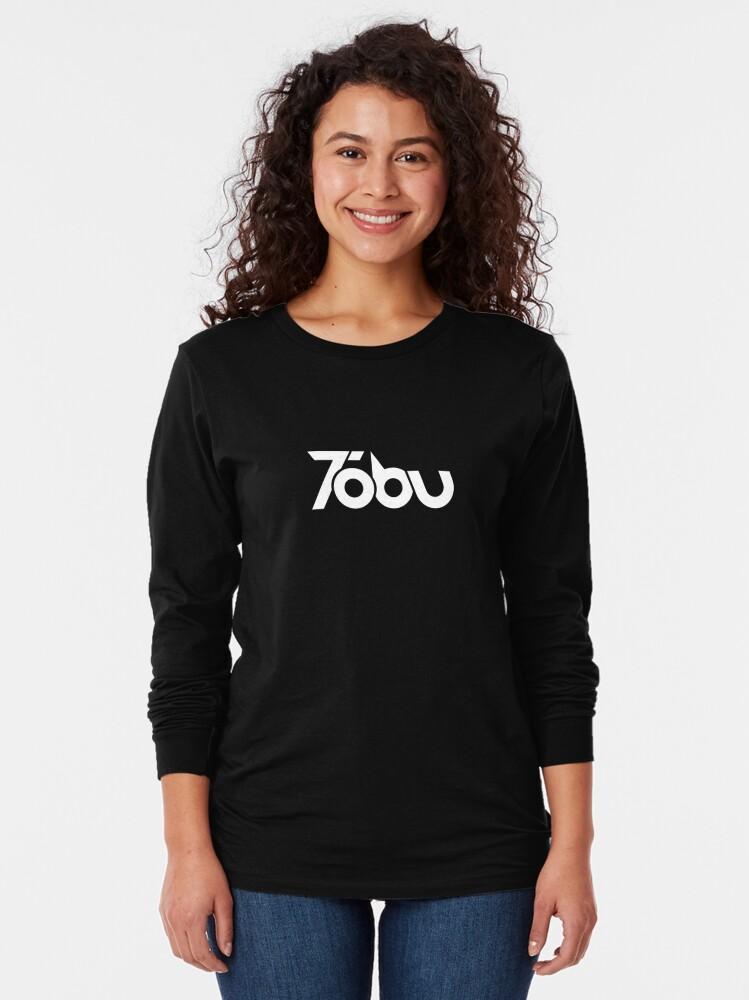 Alternate view of Tobu - White logo Long Sleeve T-Shirt