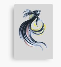 Jet Black Beta Canvas Print