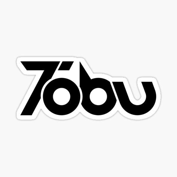 Tobu - Black Logo Sticker